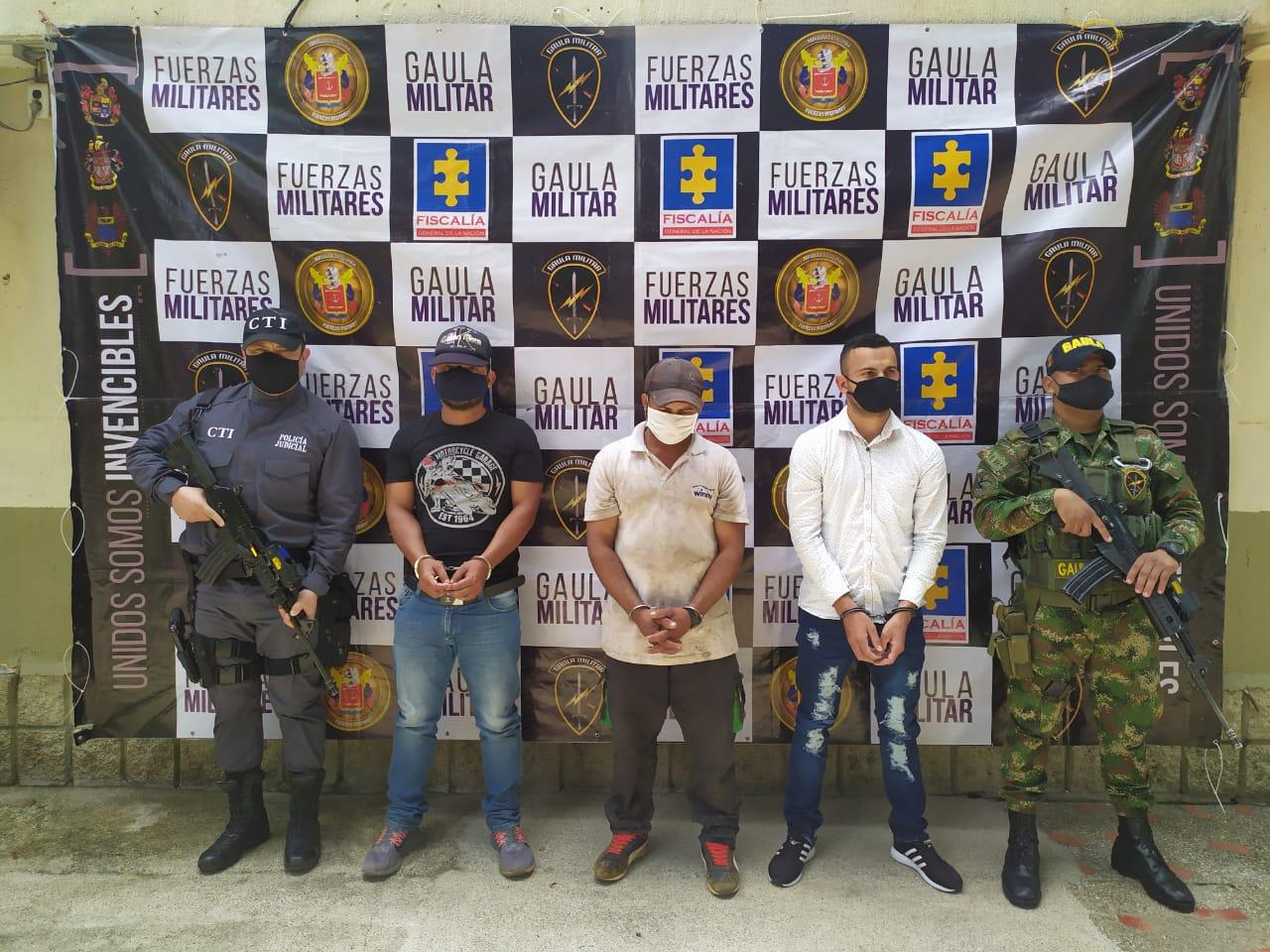 Autoridades capturaron tres sujetos que serían terroristas del GAO disidencias Estructura 36