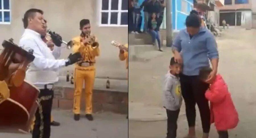 Video de niño en Bogotá que pagó 1.000 pesos para que le dieran serenata a su mamá
