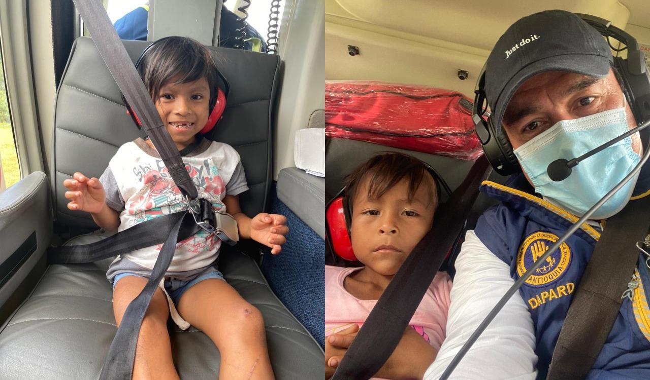 Rescatadas dos niñas indígenas pertenecientes a un resguardo en Mutatá, que estaban perdidas hace diez días