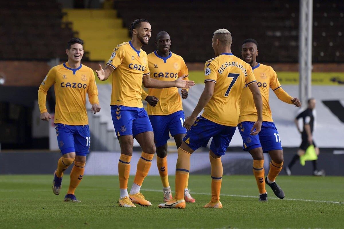 Con James y Mina de titulares, el Everton venció 3-2 al Fulham en Premier League