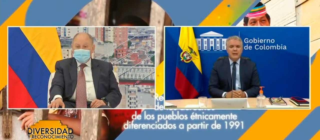Presidente Duque invita a toda la institucionalidad a caminar unidos hacia vacunación masiva