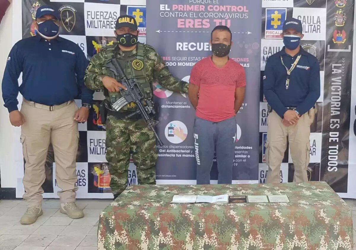 Expulsan de Colombia a militar del Ejército Nacional Bolivariano