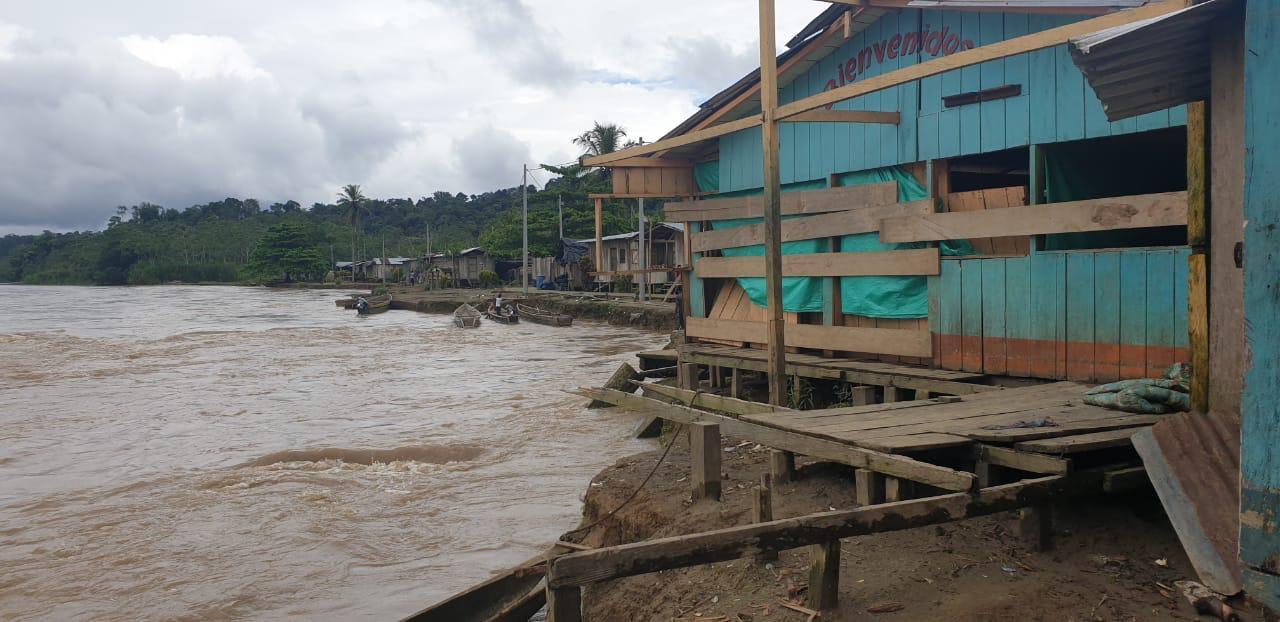 Vigía del Fuerte celebra la intervención con maquinaria amarilla del Dagran para reducir el riesgo por socavación en el río Arquía