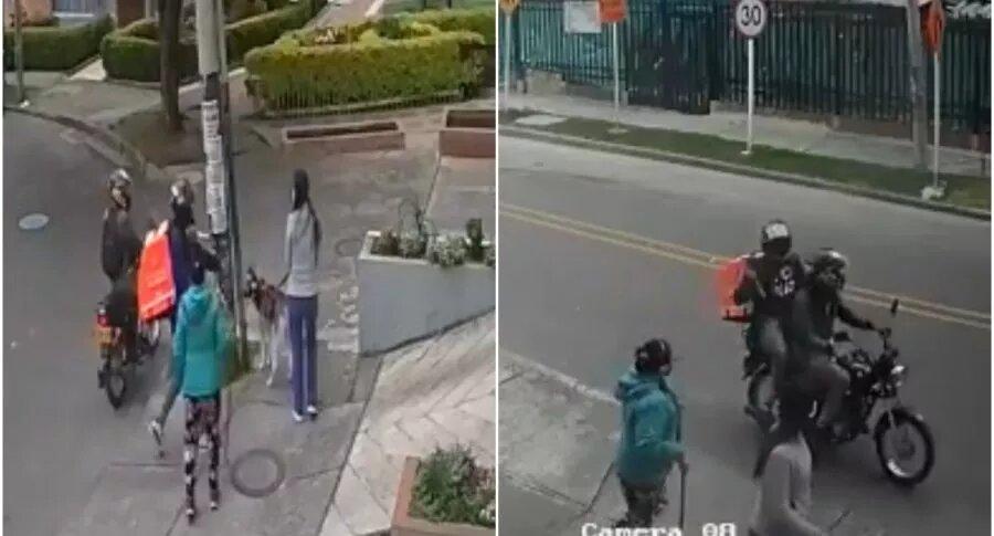 Supuestos domiciliarios de Rappi atracaron a 2 mujeres con gigantesco cuchillo, en Bogotá